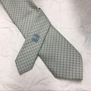 Brioni Silk Tie in Pale Blue/Gray Pattern